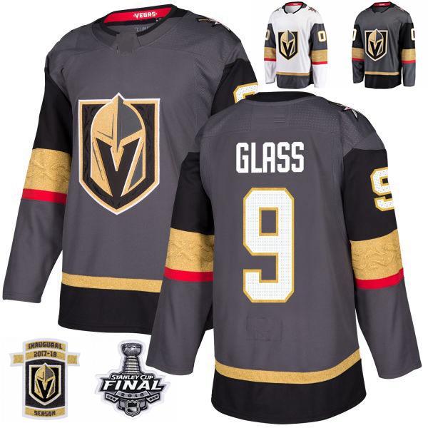 2018 Stanley Cup Final Vegas Golden Knights Cody Glass Hockey Jerseys Stitched 9 Cody Glass Jersey Customize Home Grey Jerseys