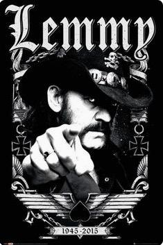 1945-2015 Lemmy Kilmister Motorhead Música Rock Retro Vintage Poster Lienzo Pintura Etiqueta de La Pared Home Art Home Decor Regalo