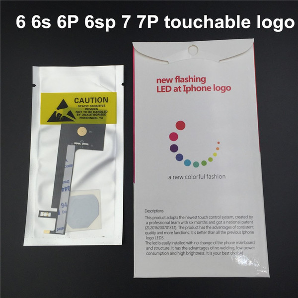 Led Light For Touch Glowing Logo For Apple Iphone 6 6s Plus 7 Glowing LED Logo Rainbow Logo Led Mod