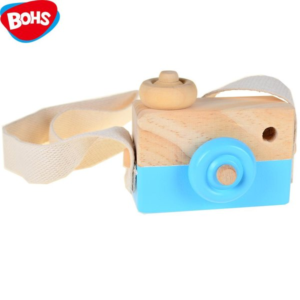 Handmade Toys Wooden Camera Photographed Props Decoration Pretend Play