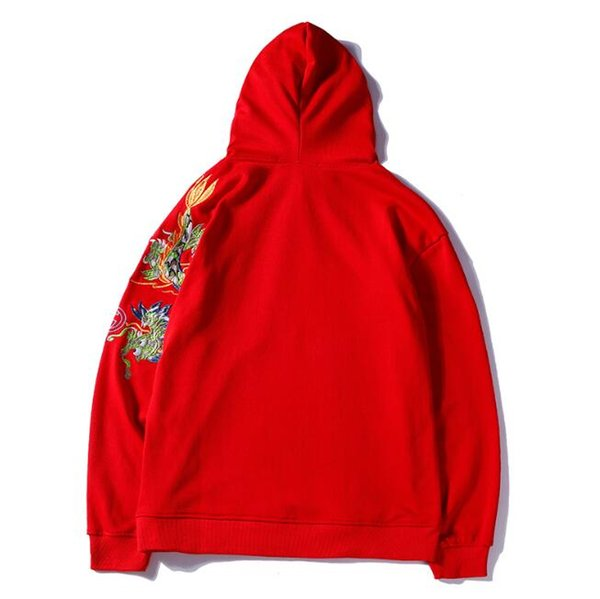 2018 autumn and winter new dragon embroidery letter printing loose hooded sweater men and women with the same hoodie mens designer polo shir