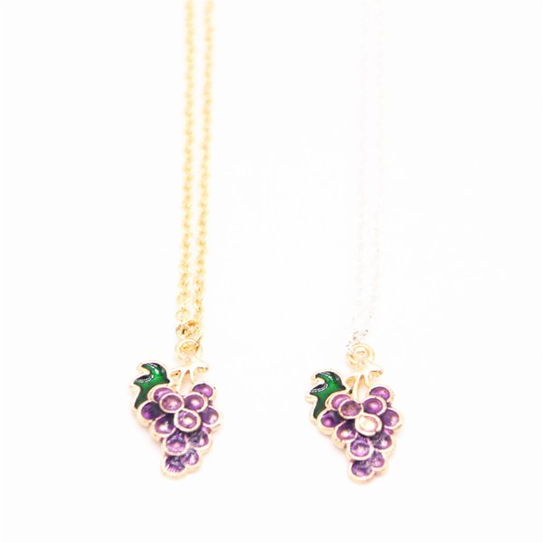 2018 The latest elements pendant necklace Grape form plated necklace Free shipping attractive gifts for women