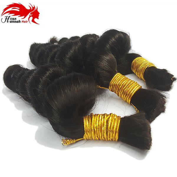 top popular Hannah product Buy 3bundles 150gram Brazilian Hair Bulk For Braiding Human No Weft Brazilian Hair Micro mini Braiding Bulk Hair 2019