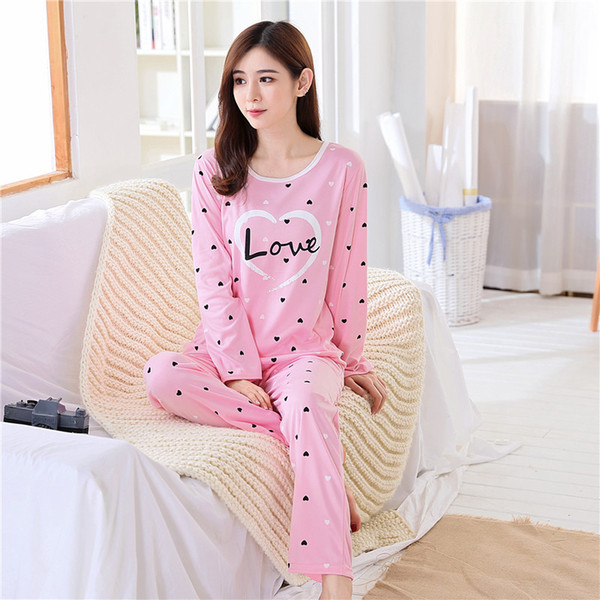 2018 Spring Pyjamas Women Carton Cute Pijama Pattern Pajamas Set Thin Pijama  Mujer Sleepwear pajama Wholesale eacb153d8