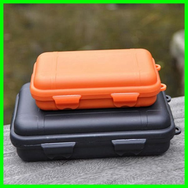 2 Size Outdoor Gear Shockproof EDC Box Outdoor Survival Storage Case Plastic Waterproof Container Travelling Kit for Camping Hiking Fishing