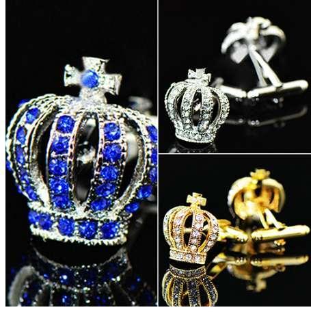Bluelans Edelstahl Vintage Herren Hochzeitsgeschenk Golden Tone Crown