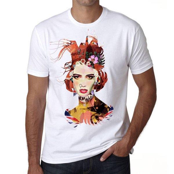 Rude T Shirt Ekip Boyun Kısa Kollu Yaz Kağıt Renkli Kız Punk Tee Gömlek Erkekler Için