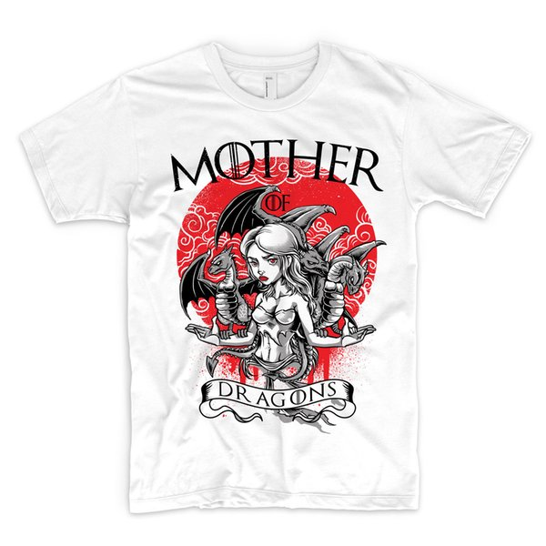 Ejderhalar T Shirt of Khaleesi oyunları Thrones Targaryen John Kar Üst Hediye komik% 100% Pamuk t gömlek harajuku Yaz 2018 tshirt