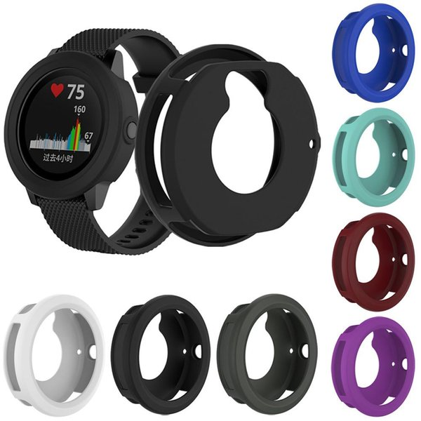 High Quality Silicone Protector Case Cover Shell For Garmin Vivoactive3 Smart Watch Diameter 45.4MM