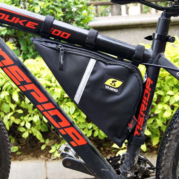 Mountain Bike Bag Cycling Front Bag Outdoor Mountain Bike Bicycle e Tool Kit Frame Bag Saddle Bag H5