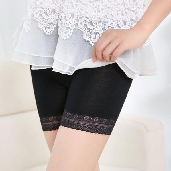 Мода женщин нижнее белье кружева многоуровневые юбки короткая юбка под брюки безопасности нижнее белье шорты нижнее белье сексуальные трусы стринги девушки