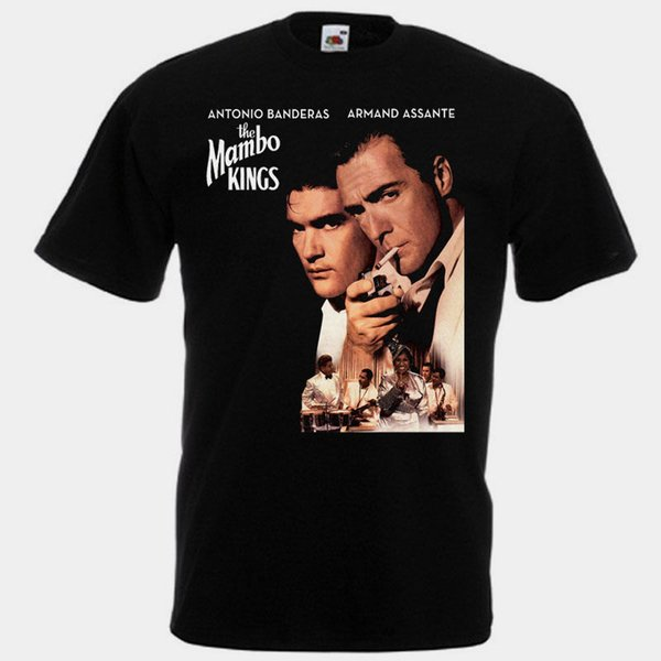 Printed T Shirt Pure Cotton Men's Short The Mambo Kings T-Shirt Black Movie Poster All Sizes S To 3XL O-Neck Christmas Shirt