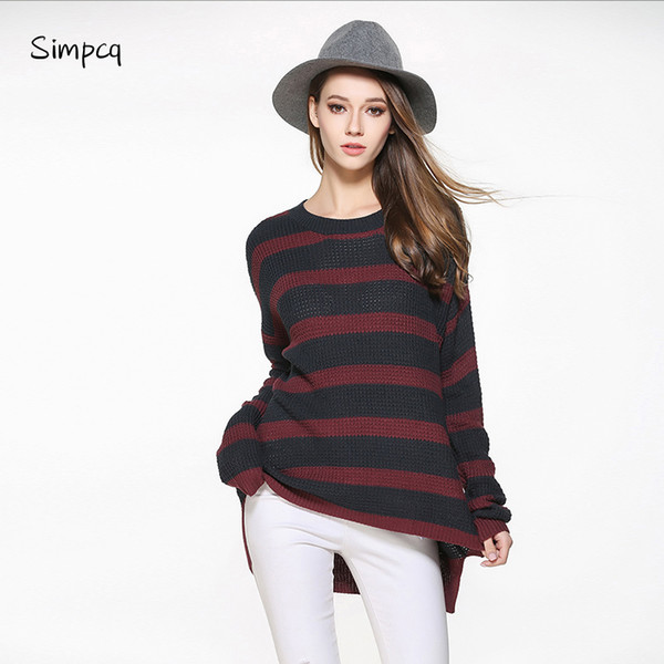 new sale full poncho simpcq pullovers striped knitted woman autumn cozy sweaters made in wholesales drop shipping m0716