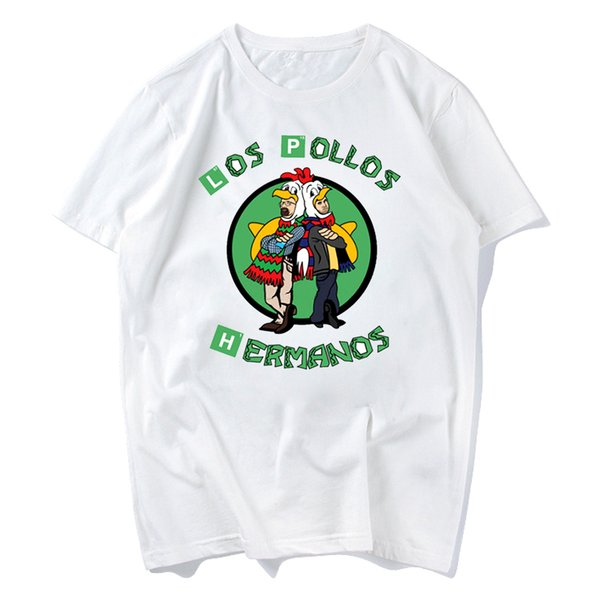 2018 Men's Fashion Breaking Bad Shirt LOS POLLOS Hermanos T Shirt Chicken Brothers Short Sleeve Tee Hipster Hot Sale Tops s-xxxl