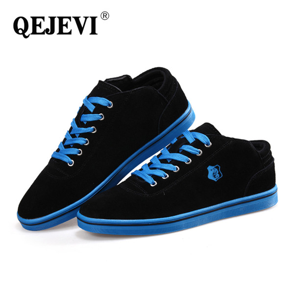 QEJEVI Sports Shoes Men Walking Outdoor Shoes Mens Nubuck Leather Outdoor Flat Sneakers Jogging Male Mens Wedges