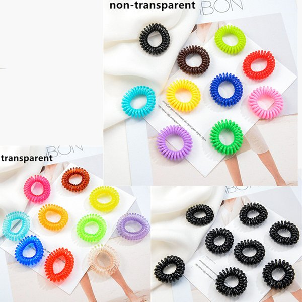 2 5 cm telephone wire cord gum hair tie girl ela tic hair band ring rope candy color tie hair ring rop