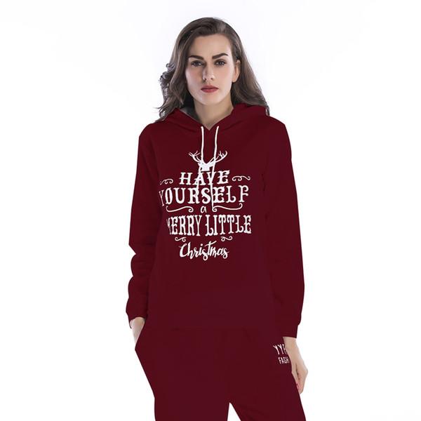 Новая мода толстовки женщины толстовка Femmes Pattern толстые женские обрезанные и кофты снежный олень Письмо печати Рождество BM081