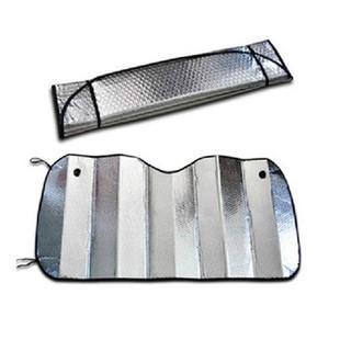 Venta caliente de doble espesor de papel de aluminio Sun Shade bloqueador solar parabrisas parabrisas cubierta 125cmx 70cm