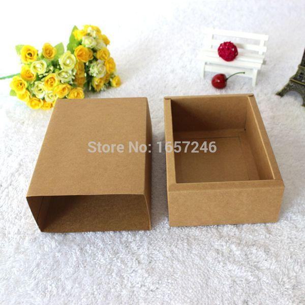 50pcs/pack: 18x10x6cm Drawer Kraft Paper Packaging box for Essential Oil Perfume sample bottle Lipstick DIY Craft storage box