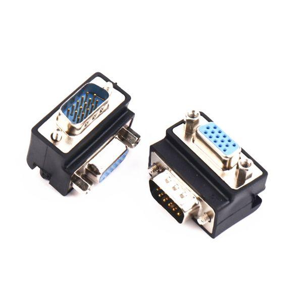 Sonderangebot von 2PCS 15PIN Mann zu Frau 90 Grad rechtwinkliger VGA Adapter D-SUB Verbindungsstück
