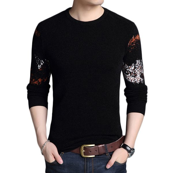 New Autumn Winter Fashion Brand Clothing Men's Sweaters O Neck Slim Fit Men Pullover Breathable Graphic Knitted Sweater Men