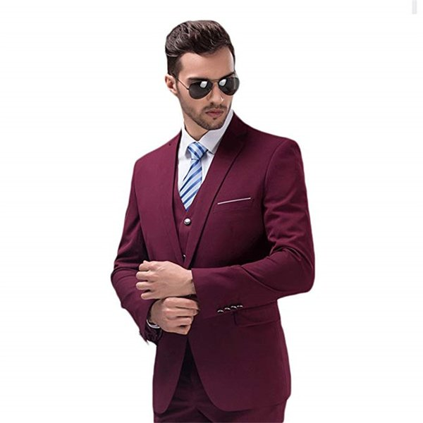 2018 fengjiandress custom 3 pieces men suits wedding suits one button groom/bestman men suits tuxedos (jacket+vest+pants) free shipping