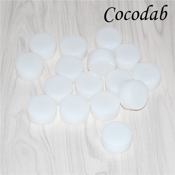 Nonstick white wax containers silicone box 5ml silicon container food grade jars dab tool storage jar oil holder for bong FDA approved
