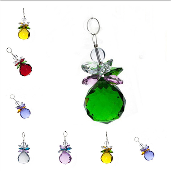 6pcs 40mm Crystal Faceted Ball Suncatcher Prisms Chandelier Pendant Car Decor Window Hanging Accessories Beauty Gift