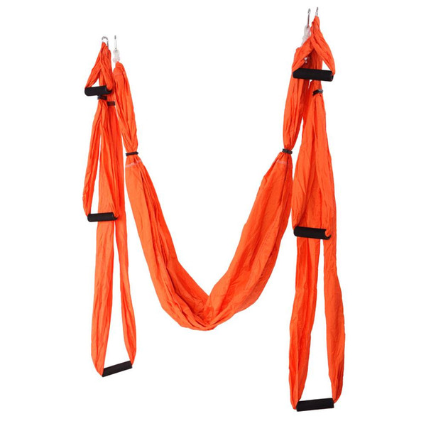 Anti-Gravity Aerial Yoga Hammock Orange for Antigravity Yoga Inversion Exercises - 6 x Form Included US Stock