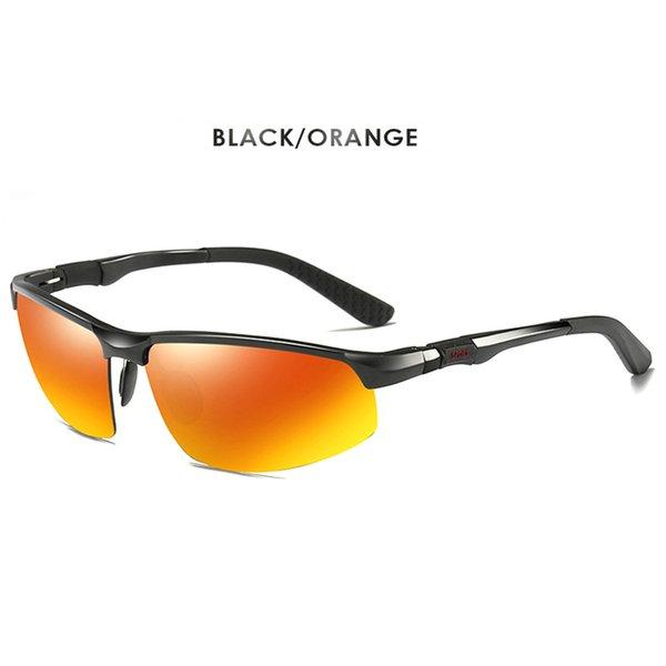 Черный-оранжевый