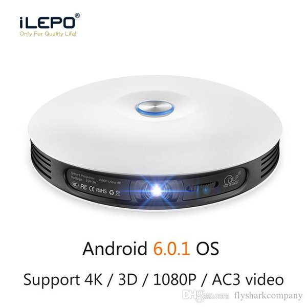 Android 6.0 Smart 3D projector RK3368 Octa core New Generation Projectors Stereo surround sound Portable Led light projector 2GB RAM 8GB ROM