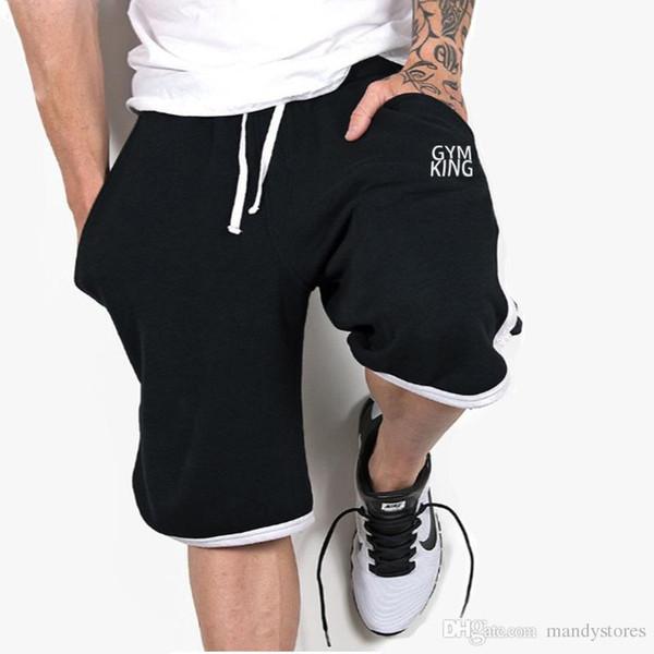 top popular Shorts Mens Bermuda 2018 Summer Men Beach Hot Cargo Simple Letter Solid Men Boardshorts Male Trousers Men'S Short Casual Fitness 2019