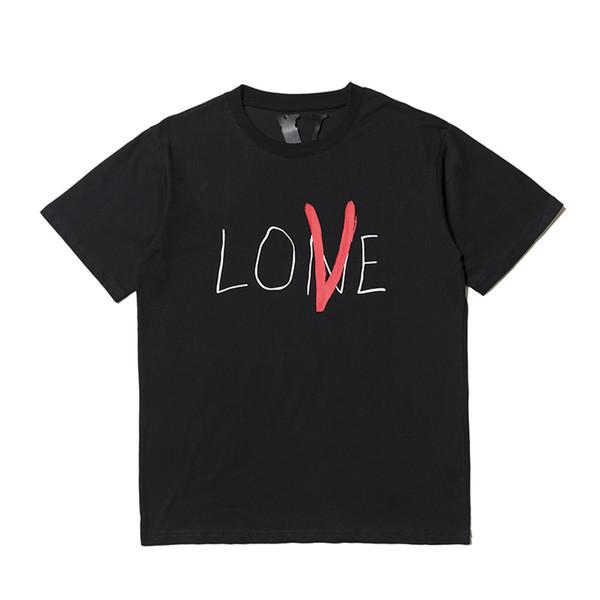 2018 s / s Beste Qualität Valentinstag Grenze LIEBE Gedruckt Frauen Männer Paar t-shirt tees Hiphop Männer t-shirt Vlone
