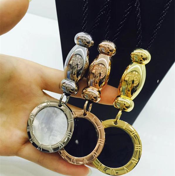 2018 nuovi gioielli di moda in acciaio inox moda B marca gioielli ciondolo per le donne / uomini shell necklacen