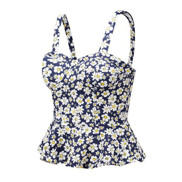 Women Floral Bustier Crop Top Summer Women Tank Top Short Vest Sexy Camis Women Tops Cropped Feminino Ruffles Bralette Bra