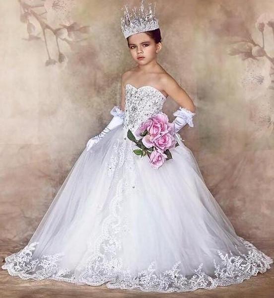Compre Boda Personalizada Princesa De Lujo Cariño Vestidos De Primera Comunión Para Las Niñas Gorgeous Girls Vestidos Del Desfile Vestidos De Novia