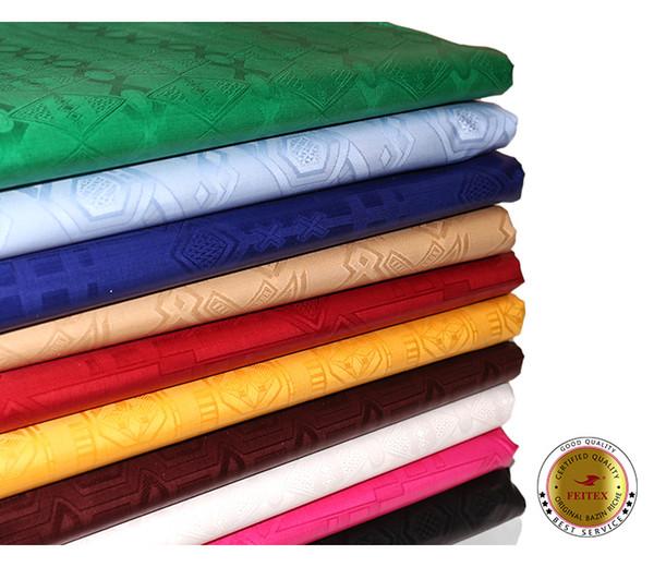 Kaliteli Batı Afrika Bazin Riche Gine Brokar Pamuklu Kumaş Afrika Giyim Tekstil Düğün Parti Için Feitex