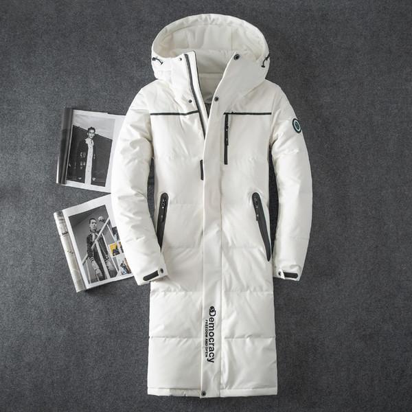 2018 Winter Dicke Warme Unten Jacke Casual X Lange Weiße