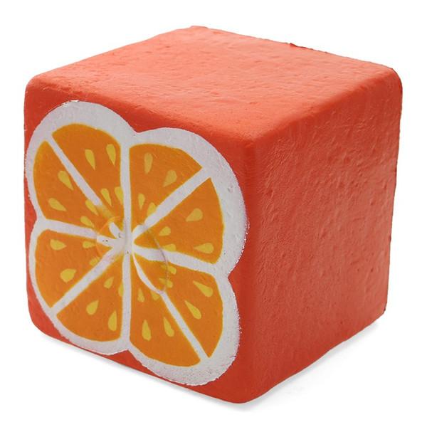 Fruit Orange Toast Pan Juguete Squishy Lento Levantamiento Suave Correas Kawaii Colección Regalo Descompresión Juguete OOA5064
