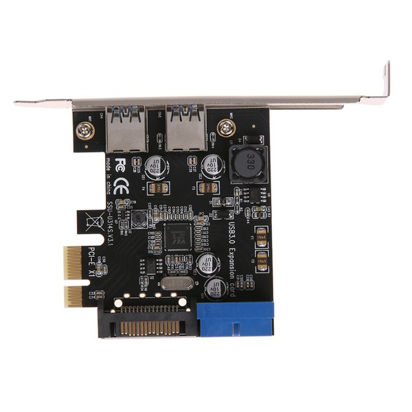 hot sale High Speed 19Pin PCI Express Post Card Transfer USB3.0 Expansion Riser Card Adapter Desktop Front for Windows XP32