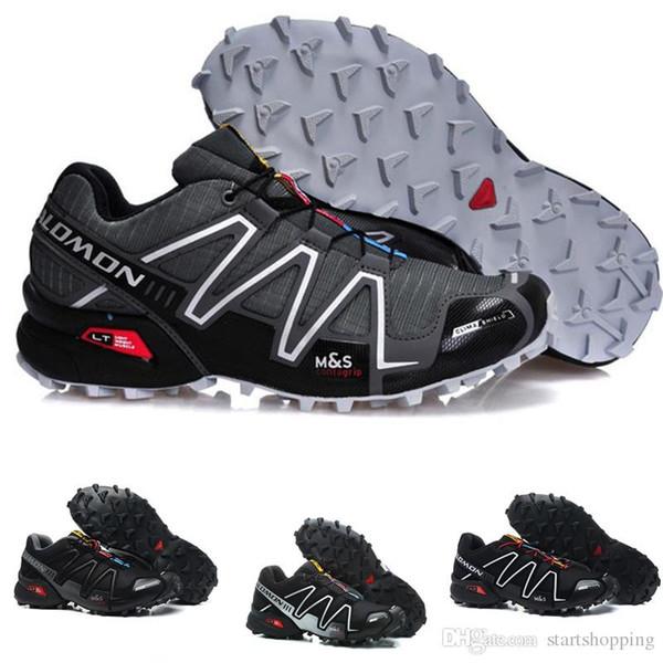 Salomon Speed Cross 3 CS III Mens Running Shoes Blue Black Grey Breathable Crosspeed 3 sneakers online shoe shopping cheap sala shoea