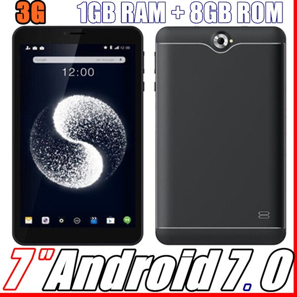 2018 3G 7 Inch Phabet Phone Call Tablet Pc 1024*600 px Capactive Screen Mtk8312 Quad Core Cpu Ram 1GB Rom 8G Android 7.0 System Gps Wif