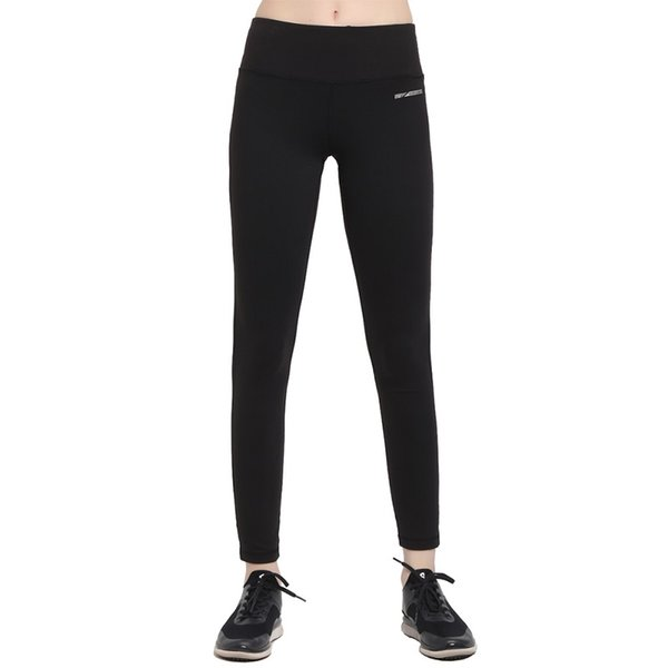 Women Base Layer Black Color Yoga Pants Spandex Stretched Running Tights Female Gym Fitness Sport Leggings Yoga Wear For Ladies