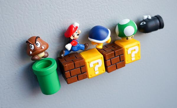 10 stücke 3D Super Mario Bros. Kühlschrank Magneten Kühlschrank Nachricht Aufkleber Lustige Mädchen Jungen Kinder Kinder Student Spielzeug Geburtstagsgeschenk