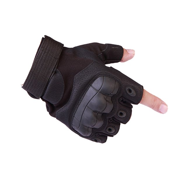 Tactical Fingerless Gloves Army  Bicycle Fighting Shooting Paintball Antiskid Hard Knuckle Half Finger Gloves
