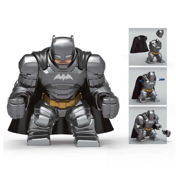Educational Avenger Super Hero Big Armored Batman Fighter Toy Figure Building Block