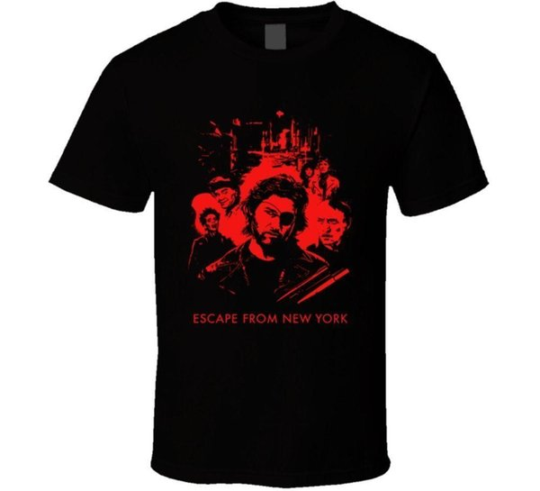 Escape From New York Carpenter Russell 80s Movie Fan Men camiseta Más bajo precio 100% algodón