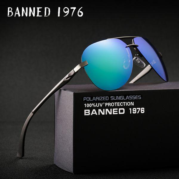 Aluminum magnesium HD polarized fashion Sunglasses women men driving sun Glasses vintage oculos de sol with original brand box C18110601
