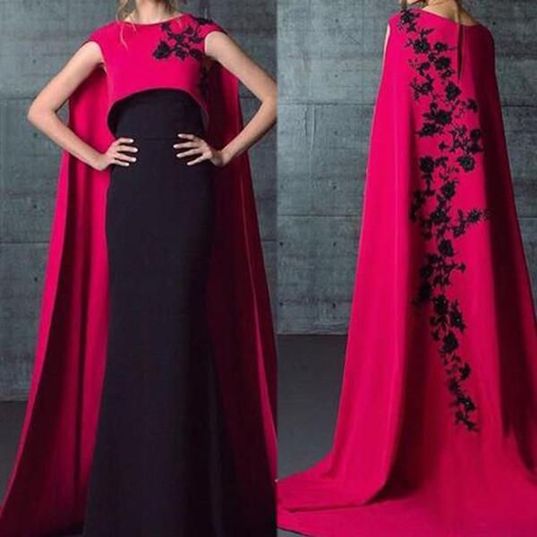 Großhandel Muslimischen Abendkleid Elegante Pink Prom Kleider 2018 ...