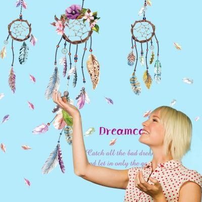 Fantastic Dreamcatcher Wall Stickers Wallpaper Wall Picture Art Room Home Decor Kitchen Accessories Household Crafts Suppllies